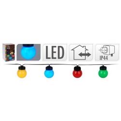 Guirnalda led 20 lamparas 5cm microled luz colores