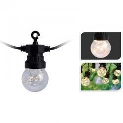 Guirnalda led 10 lamparas 5cm microled luz blanca