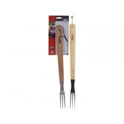 Tenedor barbacoa inox 46 cm mango madera