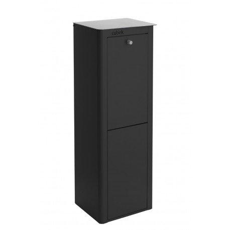 Cubo de reciclaje don hierro cubek negro 2