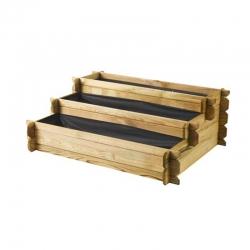 Huerto urbano escalera forest madera 100x80x36cm