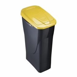 Cubo con tapa ecobin 25 l amarillo