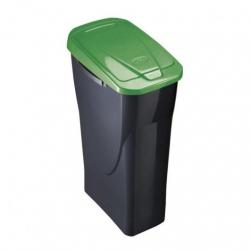 Cubo con tapa ecobin 25 l verde