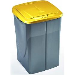 Cubo de reciclaje ecobin 45l amarillo