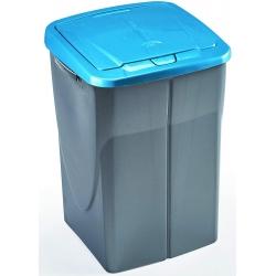 Cubo de reciclaje ecobin 45l azul