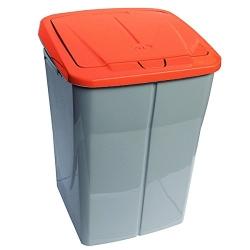 Cubo de reciclaje ecobin 45l naranja