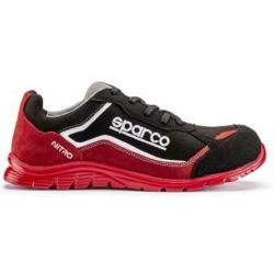 Zapato seguridad sparco nitro s3 negro rojo talla 38