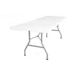 Mesa plegable multiuso 240 x 76 x 74 cm blanca extralarga
