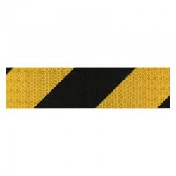 Cinta señalizacion reflectante target 50 mm 33 metros amarillo negro