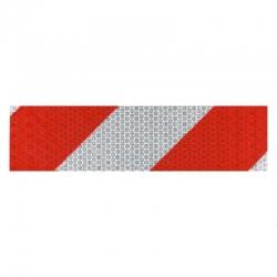 Cinta señalizacion reflectante target 50 mm 33 metros rojo blanco