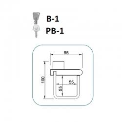 Cierre lyf b-1 para puertas de ballesta llave tubular283976