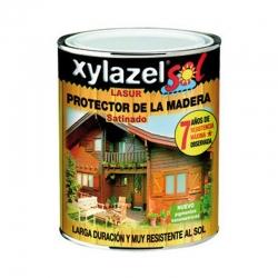 Barniz para madera lasur xylazel satinado castaÑo 750 ml