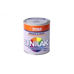Esmalte al agua unilak titan satinado blanco piedra 750 ml