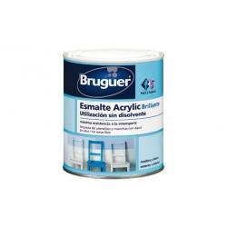 Esmalte acrylico bruguer gris medio brillante 250 ml