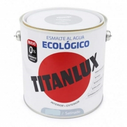 Esmalte ecologico al agua titan gris medio satinado 750 ml