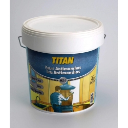 Pintura antimanchas al agua h24 titan blanco mate 750 ml