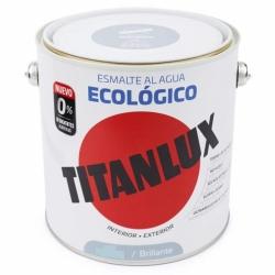 Esmalte ecologico al agua titan gris perla brillante 750 ml