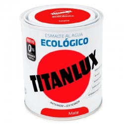Esmalte ecologico al agua titan blanco piedra mate 750 ml