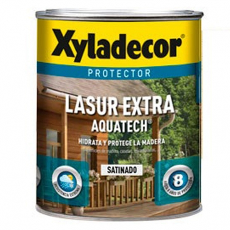 Protector lasur extra xyladecor aquatech satinado roble 750 ml