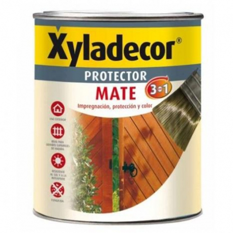 Protector madera extra 3 en 1 xyladecor nogal mate 750 ml