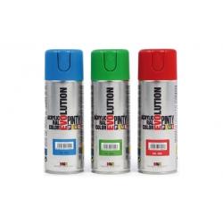 Pintura spray acrilica pintyplus negro satinado 520 cc