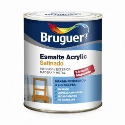 Esmalte acrylico bruguer blanco permanente satinado 250 ml