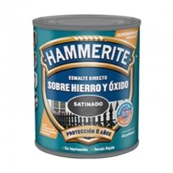 Esmalte directo hierro y oxido hammerite negro satinado 750 ml