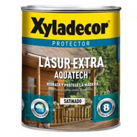 Protector lasur extra xyladecor aquatech satinado roble 2,5 litros