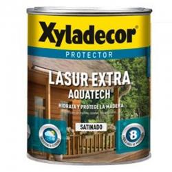 Protector lasur extra xyladecor aquatech satinado nogal 2,5 litros