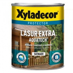 Protector lasur extra xyladecor aquatech satinado teca 2,5 litros