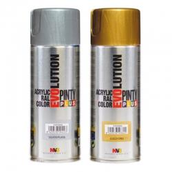 Pintura spray acrilica pintyplus oro purpurina 520 cc