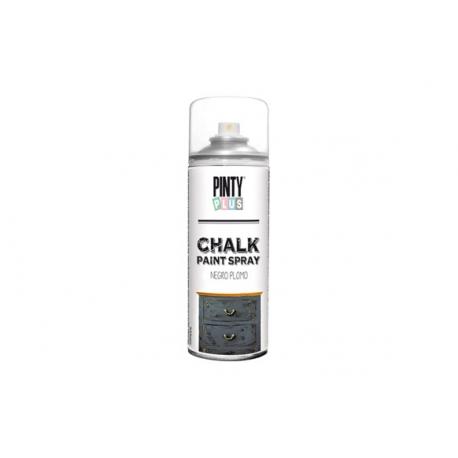 Pintura spray pintyplus chalk negro plomo 520 cc