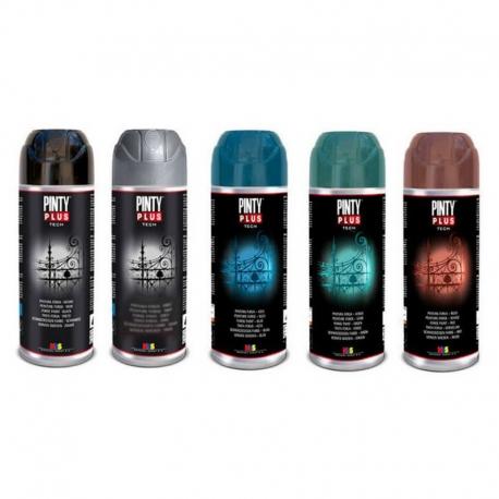 Pintura spray pintyplus efecto forja rojo 520 cc