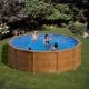 Piscina gre sicilia kitpr353w aspecto madera redonda 350x120 cm
