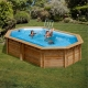 Piscina gre cannelle 790087 madera octogonal 551x351x119 cm