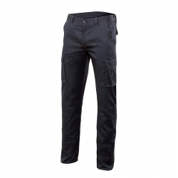 Pantalon multibolsillos stretch negro t42