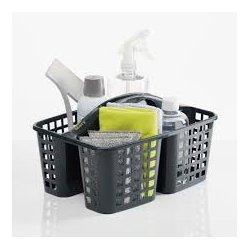 Cesta para productos limpieza mery gris