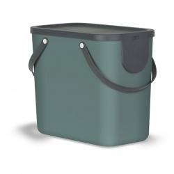 Cubo de reciclaje apilable albula 25 l verde