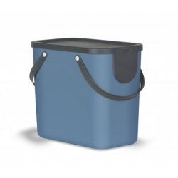 Cubo de reciclaje apilable albula 25 l azul petroleo