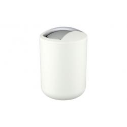 Cubo de baÑo wenko brasil 2 l con tapa abatible blanco
