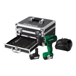 Taladro atornillador bateria hitachi ds10dal 2 baterias y accesorios