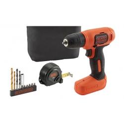 Taladro atornillador bateria black and decker 7,2 v 11 accesorios
