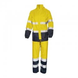 Conjunto chaqueta y pantalon impermeable alta visibilidad glare talla s