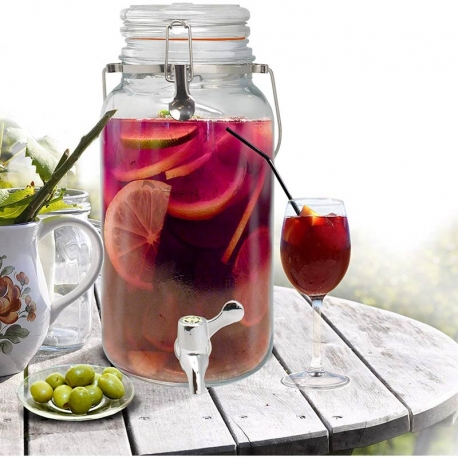 Dispensador de bebidas vin bouquet cristal 4 litros