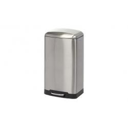 Cubo de basura gris metal 20 litros