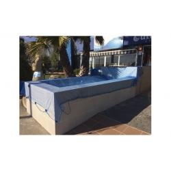 Cobertor malla para piscina 6 x 10 mt