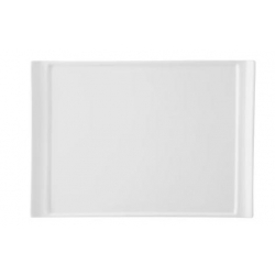 Bandeja porcelana blanca 25x17 cm