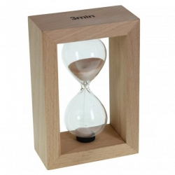 Reloj de arena madera natural 3 minutos
