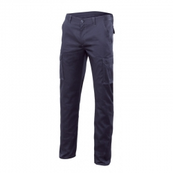 Pantalon multibolsillos stretch azul t50