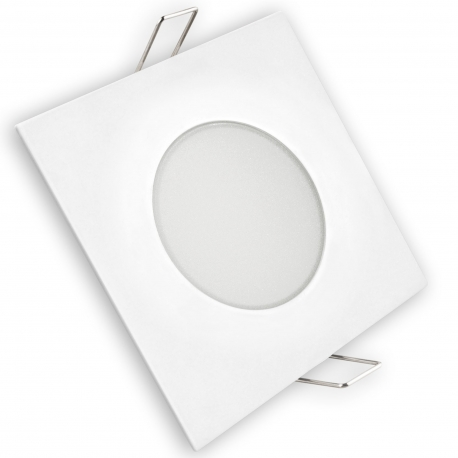 Aro led estanco ip65 8w matel cuadrado blanco fria